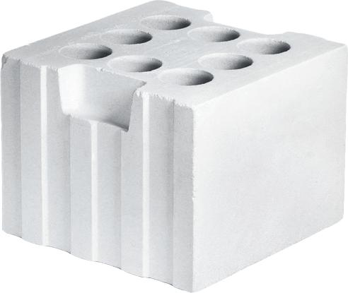 Пустотелый силикатный блок 250x248x188