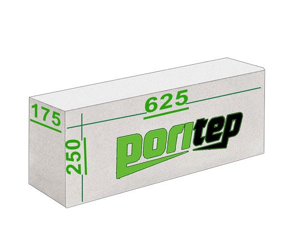 Газосиликатные блоки Поритеп 625х250x175