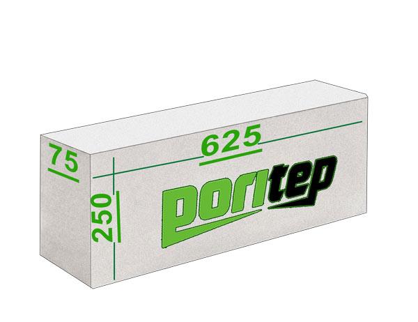 Газосиликатные блоки Поритеп 625х250x75